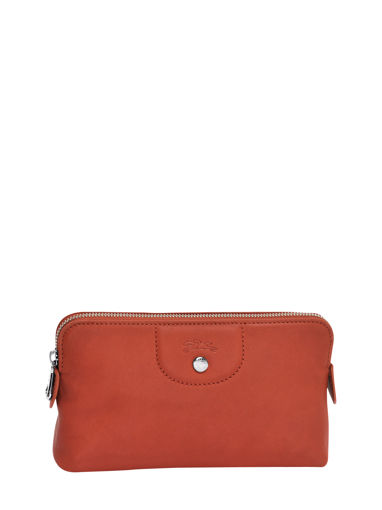 Longchamp Le pliage cuir Clutch Red