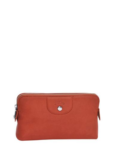 Longchamp Le pliage cuir Pochette Rouge