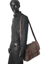 Crossbody Bag Wylson Brown blitz W8170-3-vue-porte