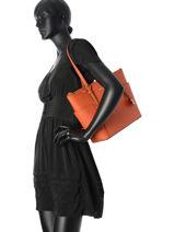 Shopping Bag Jet Set Item Leather Michael kors Orange jet set item F2GTTT8L-vue-porte