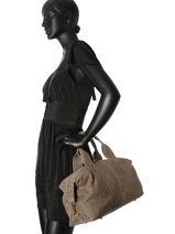 Bowling Velvet Stampa Leather Milano Beige velvet stampa V2161215-vue-porte