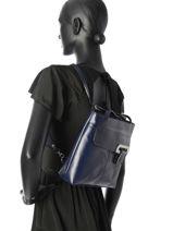 Backpack Milano Blue collet 5205-vue-porte
