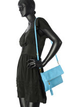 Sac De Cérémonie Milano Bleu velvet stampa V2151101-vue-porte
