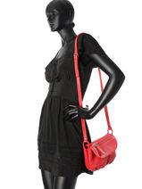 Crossbody Bag Nat et nin Red vintage JENNY-vue-porte