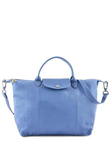 Longchamp Sacs porté main Bleu