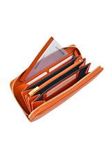 Continental Wallet Leather Yves renard Orange 29784-vue-porte