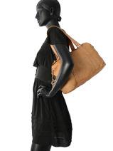 Shopper Vegetal Leather Legend Beige vegetal ROMA-vue-porte