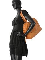 Shopper Monica Leather Pieces Brown monica 17080825-vue-porte