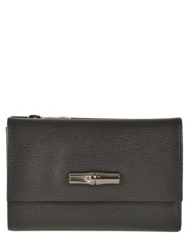 Longchamp Roseau Portefeuilles Noir
