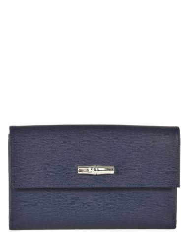 Longchamp Roseau Portefeuilles Bleu