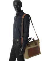 Messenger Bag Ruitertassen Green leisure 4044-vue-porte