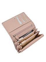 Wallet Leather Crinkles Pink 14049-vue-porte