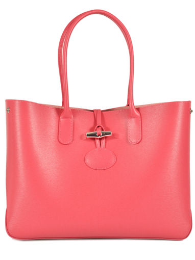 Longchamp Sac porté travers Rouge