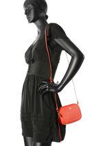 Crossbody Bag Fashion Leather Coach Red fashion 65547-vue-porte