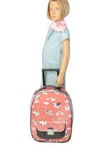 Valise Enfant Bagage Jeune premier Rose bagage T16-vue-porte