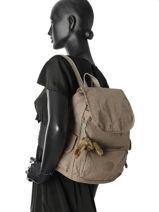 Backpack Kipling Brown 15635-vue-porte