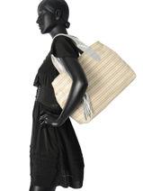 Shoulder Bag A4 Vintage Leather Mila louise Beige vintage 24126W-vue-porte
