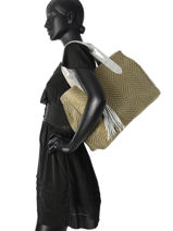 Sac Cabas A4 Vintage Cuir Mila louise Noir vintage 24126C-vue-porte
