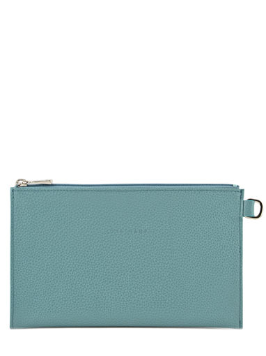 Longchamp Le foulonné Clutch Blue