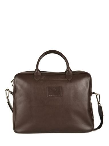 Longchamp Baxi cuir Serviette Marron