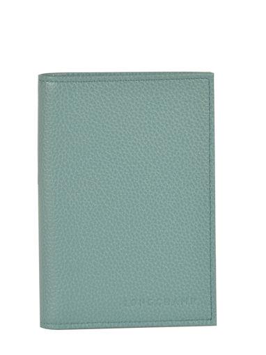 Longchamp Le foulonné Passport cover Blue