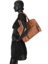Shopper Vintage Leather Paul marius Pink vintage M-vue-porte