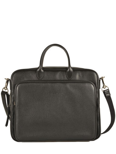 Longchamp Le foulonné Briefcase Black