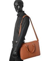 Briefcase Le tanneur Brown bruno TBN4000-vue-porte