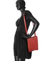 Leather Crossbody Bag N City Club Nathan baume Red n city N1621116-vue-porte