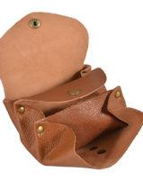 Purse Leather Paul marius Brown vintage GUSTAVE-vue-porte