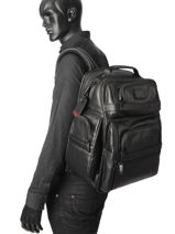 Backpack Tumi Black alpha DH96578-vue-porte