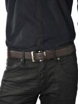 Belt Armani jeans Brown belt 6195-R4-vue-porte