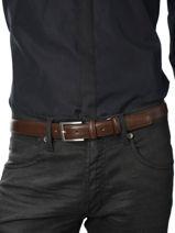 Belt Petit prix cuir Brown classic 10751A-vue-porte