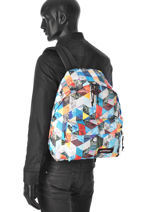 Backpack 1 Compartment A4 Eastpak Multicolor pbg authentic PBGK620-vue-porte