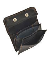 Purse Leather Foures Black 900-vue-porte