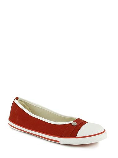 Longchamp Le pliage cuir Chaussures femme Rouge