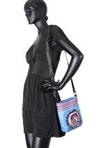 Shoulder Bag Teo Apache Teo jasmin Blue teo apache TEO630AP-vue-porte