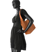 Sac Porte Epaule Sun Leather Milano Brown sun 6076S-vue-porte