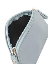 Purse Leather Milano Blue sun S2005-vue-porte