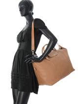 Longchamp LE FOULONNÉ BICOLORE Travel bag Beige-vue-porte
