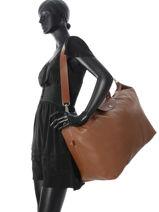 Longchamp LE FOULONNÉ BICOLORE Travel bag Red-vue-porte
