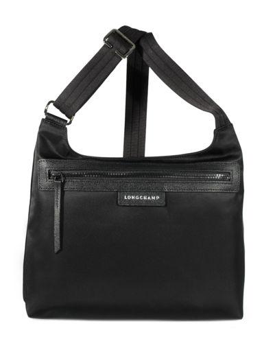 Longchamp Sacs porté travers Noir