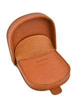 Purse Leather Foures Brown 9246-vue-porte
