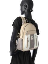 Backpack Miniprix Beige basic HY19-vue-porte