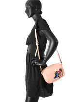 Sac Bandouliere Brodery Miniprix Rose brodery GMZ1104-vue-porte