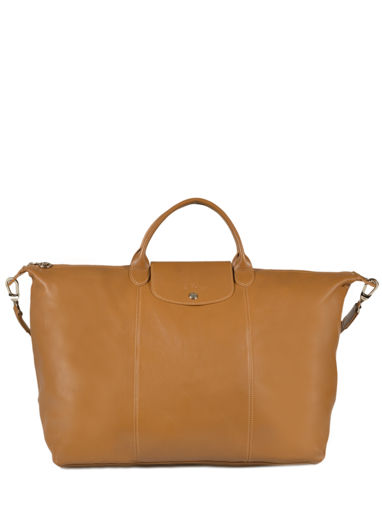 Longchamp Le pliage cuir Travel bag Beige