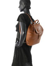 Longchamp Mystery Backpack Brown-vue-porte