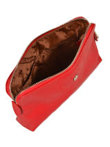 Longchamp Le pliage cuir Clutch Red-vue-porte