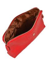 Longchamp Le pliage cuir Pochette Rouge-vue-porte