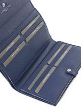 Continental Wallet Leather Lancaster Blue adele 121-22-vue-porte